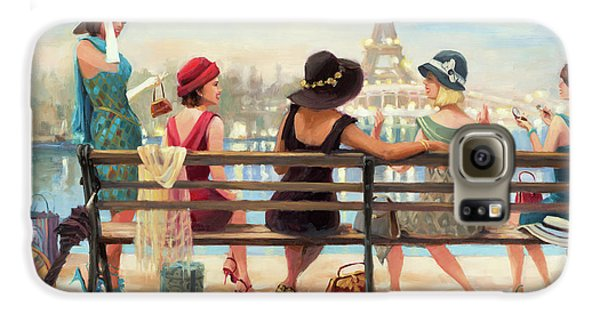 Eiffel Tower Galaxy S6 Case - Girls Day Out by Steve Henderson
