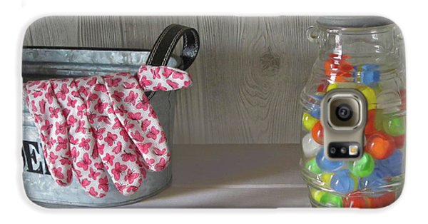 Galaxy S6 Case featuring the photograph Glass Marbles From Childhood by Nancy Lee Moran