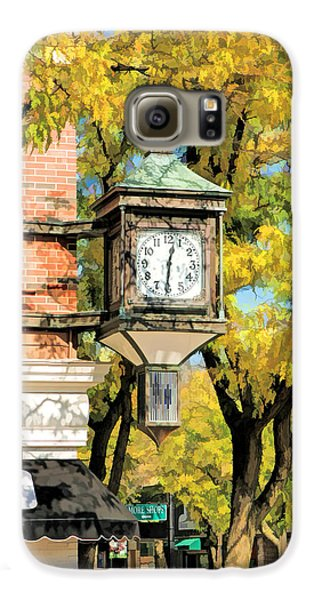 Galaxy S6 Case featuring the painting Glen Ellyn Corner Clock by Christopher Arndt