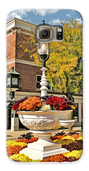 Galaxy S6 Case featuring the painting Glen Ellyn Watering Trough by Christopher Arndt