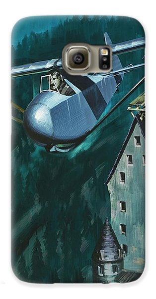 Glider Escape From Colditz Castle Galaxy S6 Case by Wilf Hardy