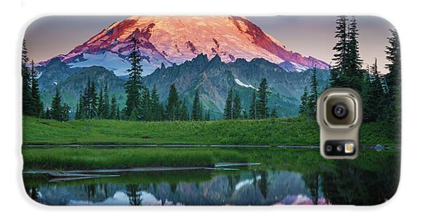 Glowing Peak - August Galaxy S6 Case by Inge Johnsson