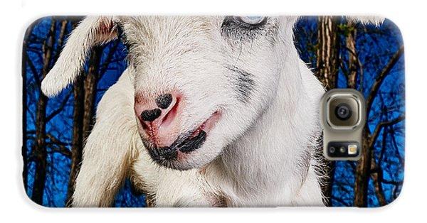 Goat High Fashion Runway Galaxy S6 Case by TC Morgan