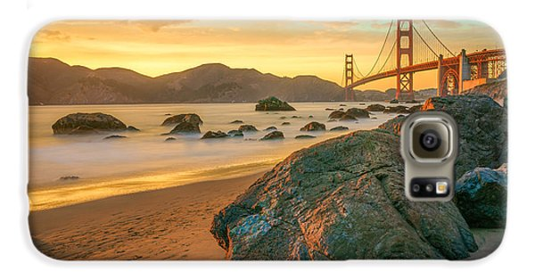 Golden Gate Sunset Galaxy S6 Case by James Udall