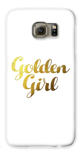 Golden Girl Typography Galaxy S6 Case by BONB Creative