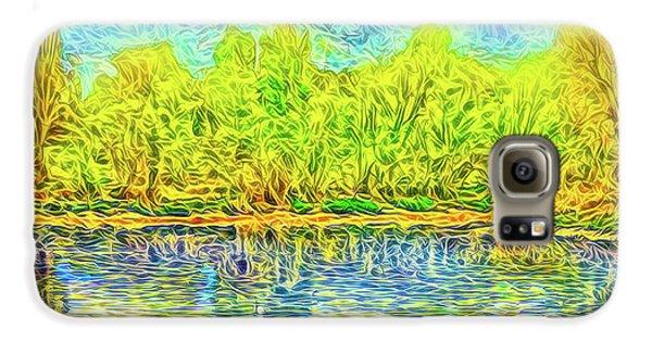 Golden Lake Reflections Galaxy S6 Case by Joel Bruce Wallach