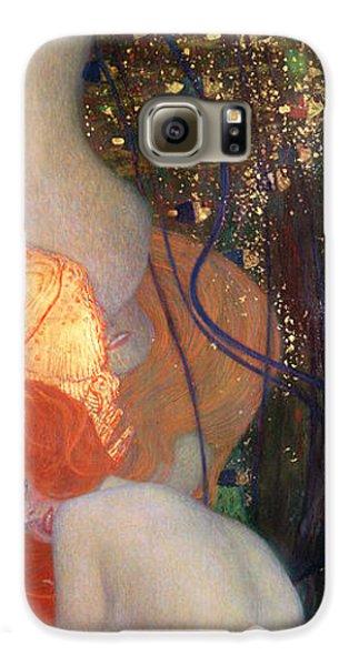 Goldfish Galaxy S6 Case - Goldfish by Gustav Klimt