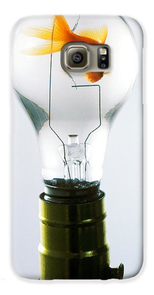 Goldfish In Light Bulb  Galaxy S6 Case by Garry Gay