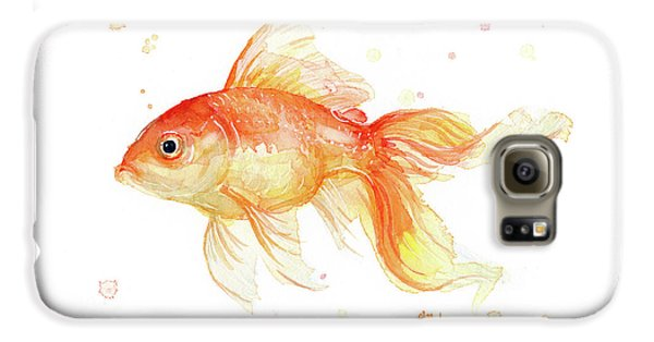 Goldfish Painting Watercolor Galaxy S6 Case
