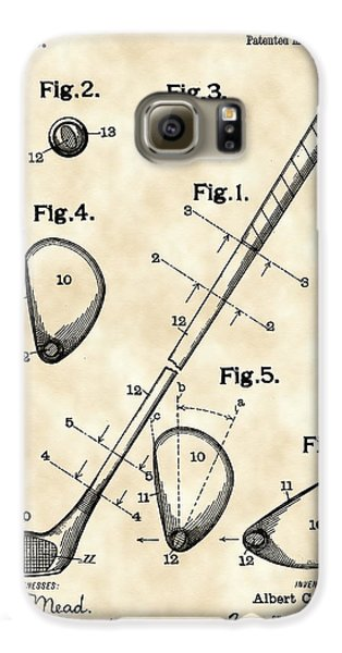 Golf Galaxy S6 Case - Golf Club Patent 1909 - Vintage by Stephen Younts