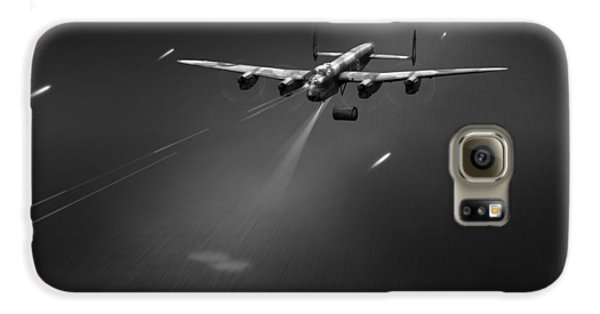 Galaxy S6 Case featuring the photograph Goner From Dambuster J-johnny Bw Version by Gary Eason