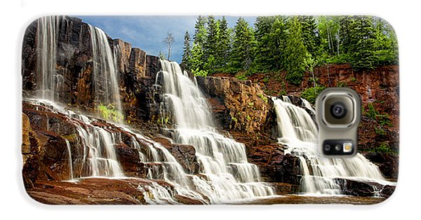 Galaxy S6 Case featuring the photograph Gooseberry Falls by Rikk Flohr