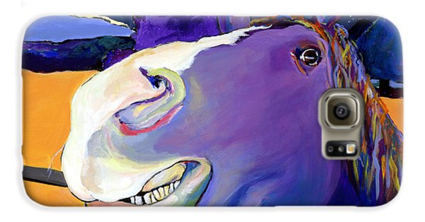 Horse Galaxy S6 Case - Got Oats      by Pat Saunders-White