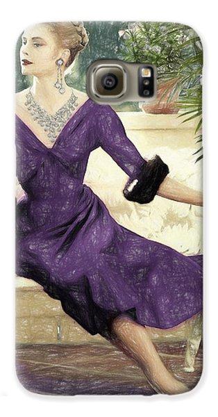 Grace Kelly Draw Galaxy S6 Case by Quim Abella
