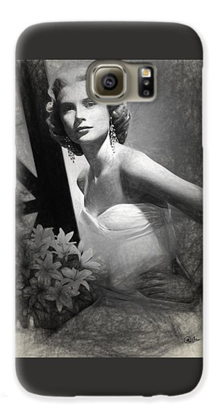 Grace Kelly Drawing Galaxy S6 Case by Quim Abella