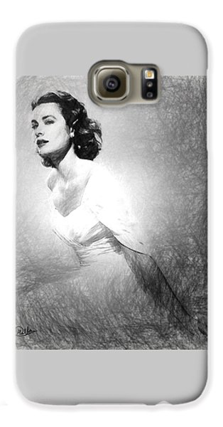 Grace Kelly Sketch Galaxy S6 Case by Quim Abella