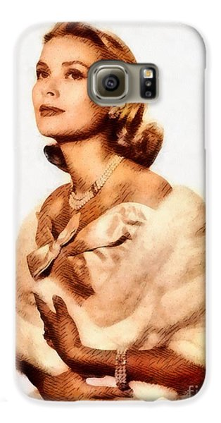 Grace Kelly, Vintage Actress By John Springfield Galaxy S6 Case by John Springfield