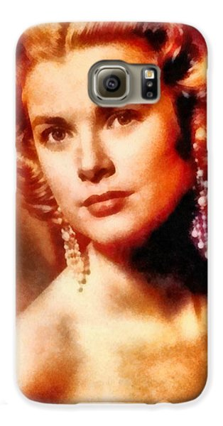 Grace Kelly, Vintage Hollywood Actress Galaxy S6 Case by Frank Falcon