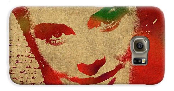 Grace Kelly Watercolor Portrait Galaxy S6 Case by Design Turnpike