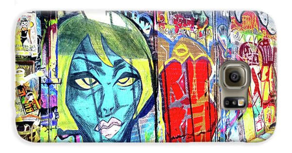 Galaxy S6 Case featuring the drawing Graffiti Alley, Boston, Ma by Patti Ferron