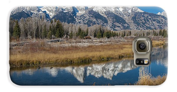 Galaxy S6 Case featuring the photograph Grand Tetons by Gary Lengyel