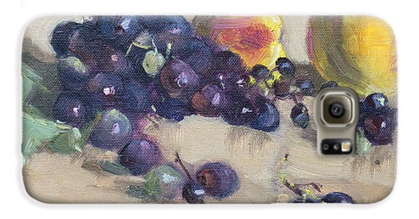 Grape And Peach Galaxy S6 Case
