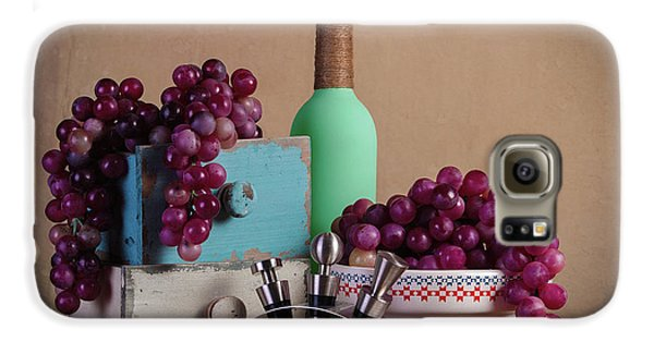 Grapes With Wine Stoppers Galaxy S6 Case by Tom Mc Nemar