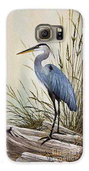 Great Blue Heron Shore Galaxy S6 Case