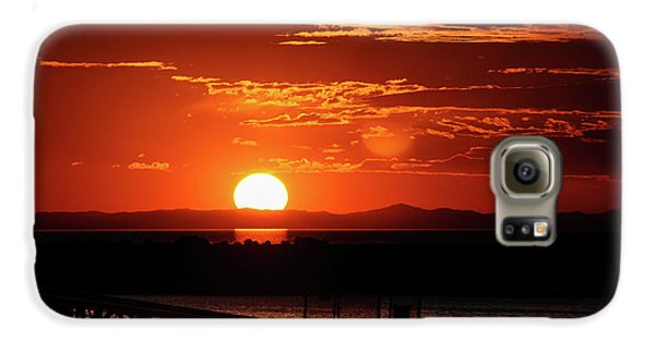 Great Salt Lake Sunset Galaxy S6 Case