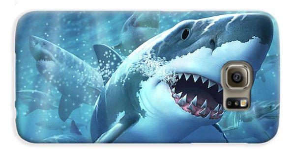 Sharks Galaxy S6 Case - Great White Shark by Jerry LoFaro