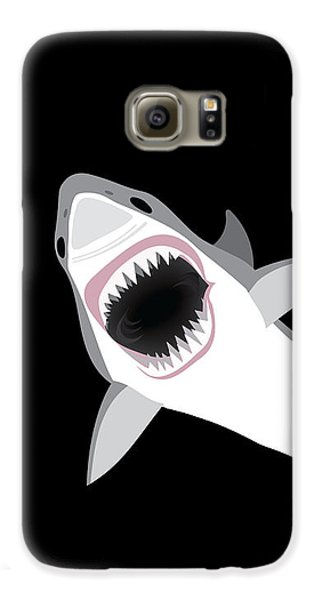 Great White Shark Galaxy S6 Case by Antique Images