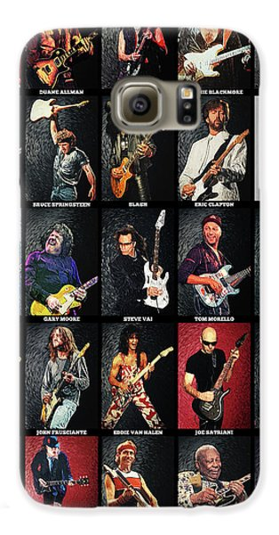 Jimmy Page Galaxy S6 Case - Greatest Guitarists Of All Time by Zapista