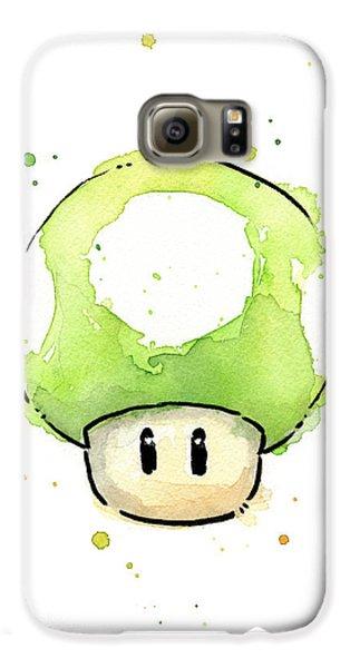 Green 1up Mushroom Galaxy S6 Case