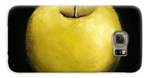 Galaxy S6 Case featuring the painting Green Apple Still Life 2.0 by Michelle Calkins