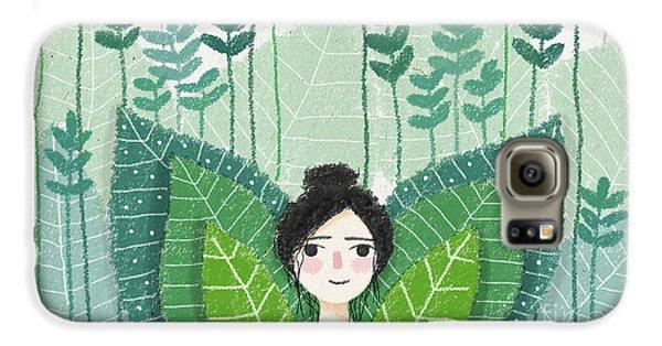 Green Galaxy S6 Case by Carolina Parada