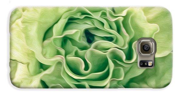 Green Flower Galaxy S6 Case