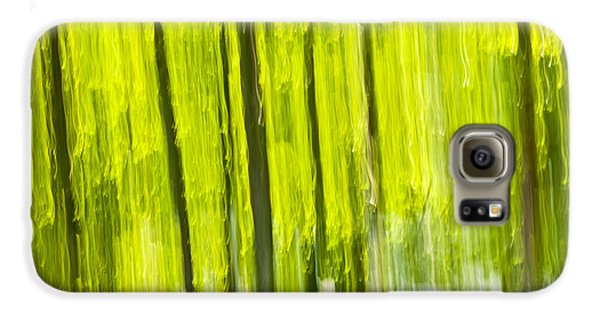 Green Forest Abstract Galaxy S6 Case