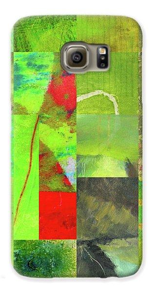 Galaxy S6 Case featuring the digital art Green Grid by Nancy Merkle