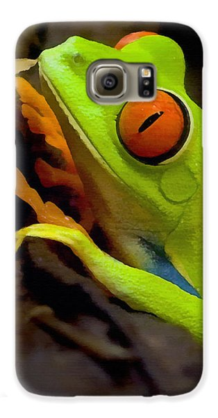 Green Tree Frog Galaxy S6 Case by Sharon Foster