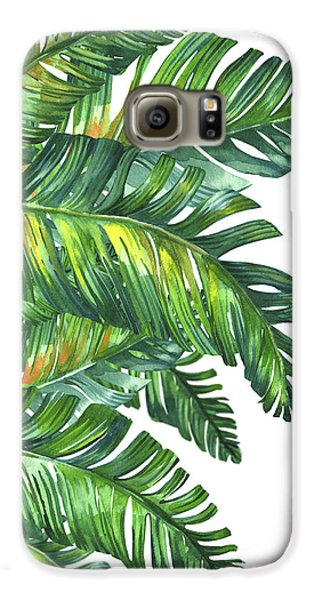 Flowers Galaxy S6 Case - Green Tropic  by Mark Ashkenazi