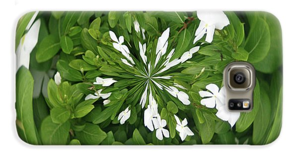 Galaxy S6 Case featuring the photograph Green-white Orb by Bill Barber