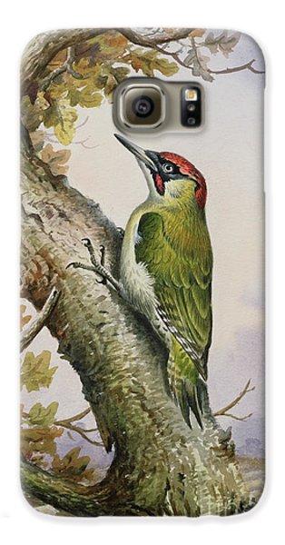 Green Woodpecker Galaxy S6 Case by Carl Donner