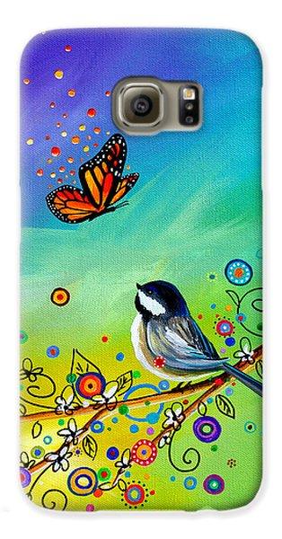 Chickadee Galaxy S6 Case - Greetings by Cindy Thornton