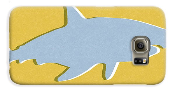 Reef Shark Galaxy S6 Case - Grey And Yellow Shark by Linda Woods