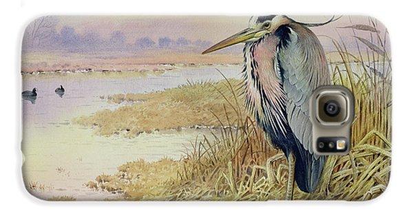 Grey Heron Galaxy S6 Case by John James Audubon
