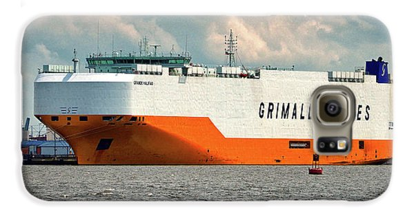 Galaxy S6 Case featuring the photograph Grimaldi Lines Grande Halifax 9784051 At Curtis Bay by Bill Swartwout Fine Art Photography