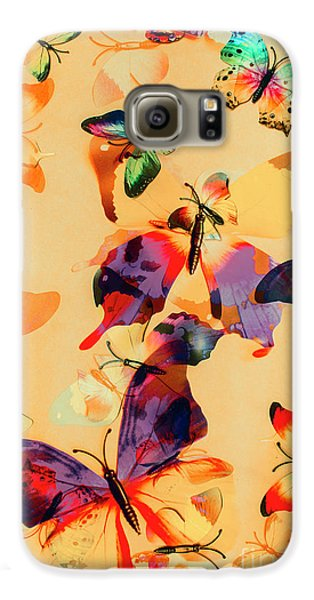 Group Of Butterflies With Colorful Wings Galaxy S6 Case