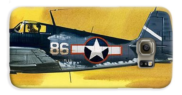 Airplane Galaxy S6 Case - Grumman F6f-3 Hellcat by Wilf Hardy