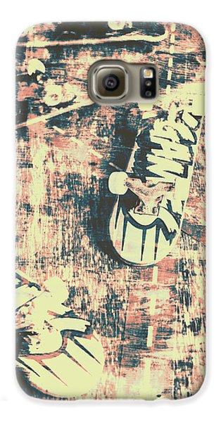 Truck Galaxy S6 Case - Grunge Skateboard Poster Art by Jorgo Photography - Wall Art Gallery