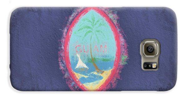 Galaxy S6 Case featuring the digital art Guam Flag by JC Findley